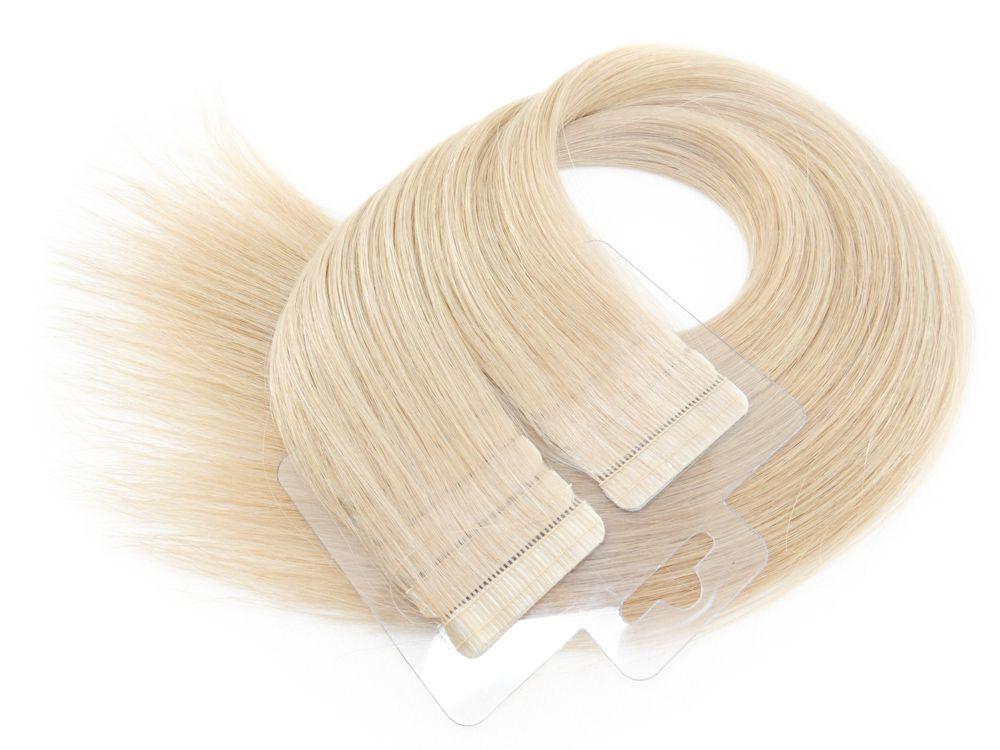 Mega Hair Fita Adesiva Cabelo Humano Premium Loiro Acinzentado #121 - 20 peças 35cm 30g