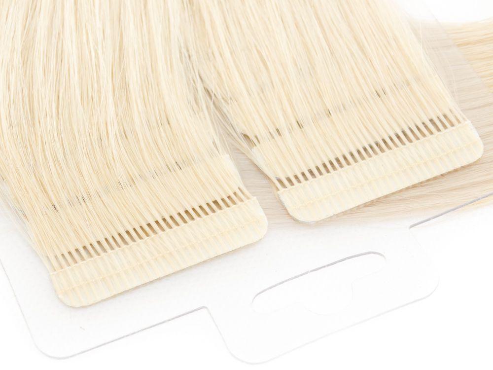 Mega Hair Fita Adesiva Cabelo Humano Premium Loiro Claríssimo #10 - 20 peças 35cm 30g