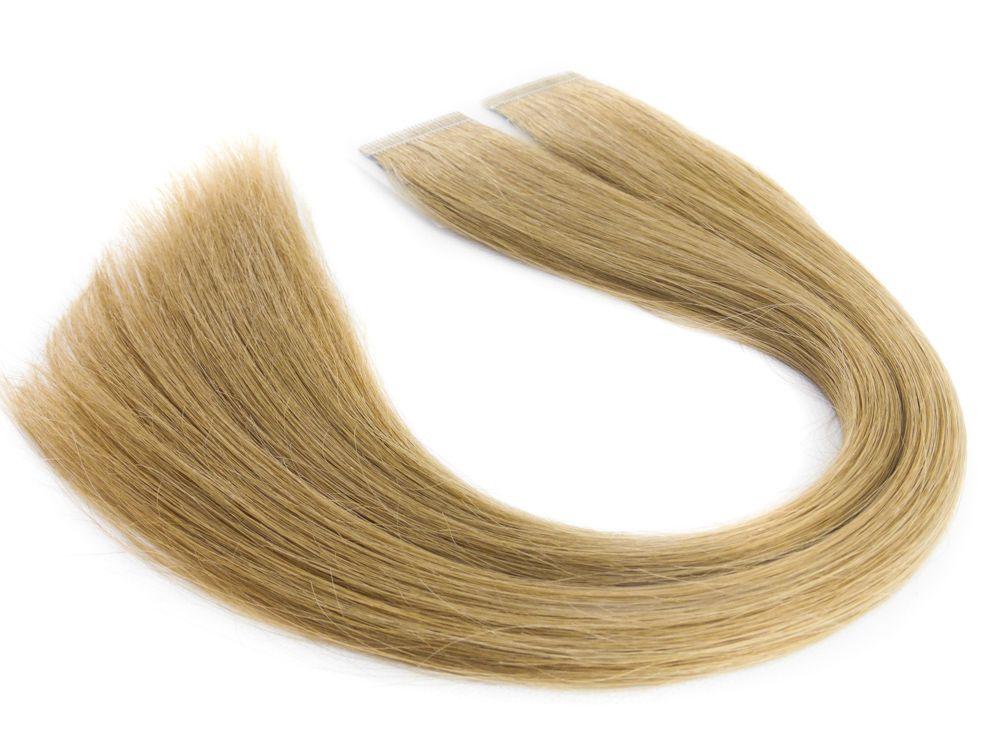 Mega Hair Fita Adesiva Cabelo Humano Premium Loiro Claro #9 - 20 peças 35cm 30g