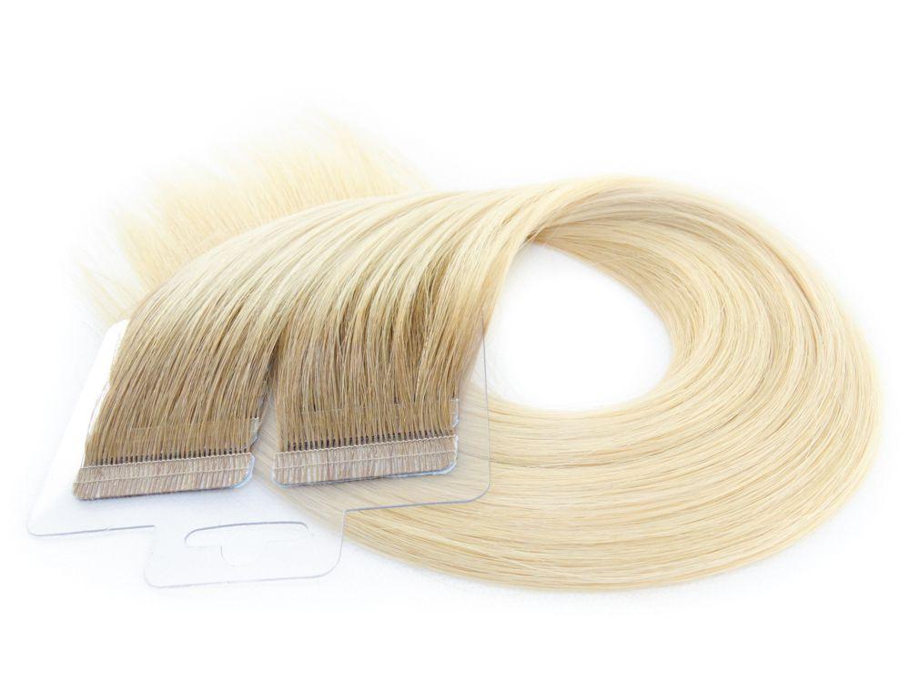 Mega Hair Fita Adesiva Cabelo Humano Premium Ombre #7/12 - 20 peças 55cm 50g