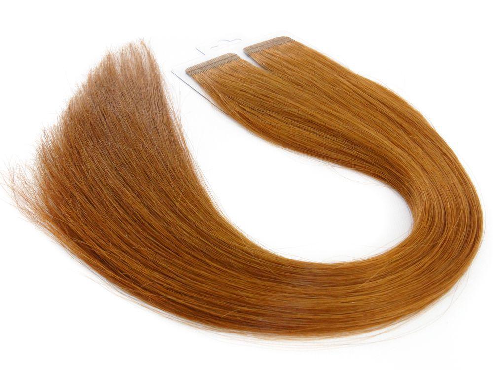 Mega Hair Fita Adesiva Cabelo Humano Premium Ruivo #67 - 20 peças 35cm 30g