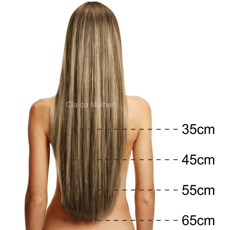 Mega Hair Castanho Mechado Fita Adesiva Premium - Cor 6/10