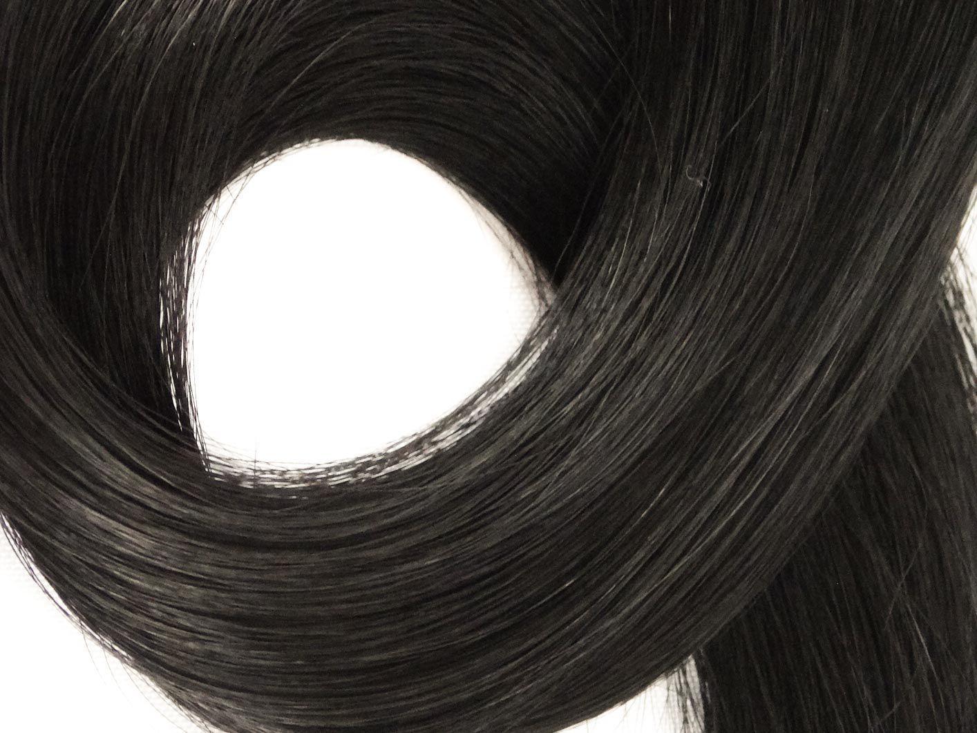 Mega Hair Fita Adesiva Cabelo Humano Premium Preto #1 - 20 peças 35cm 30g