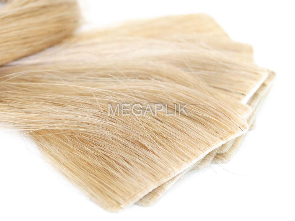 Mega Hair Invisível 10 Peças Loiro Claro #9 Cabelo Humano 45cm