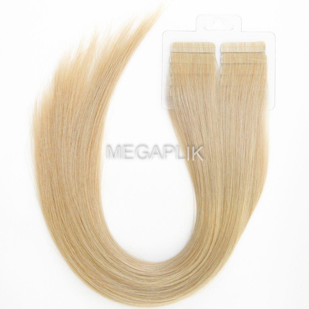 Mega Hair Loiro Acinzentado Fita Adesiva Premium - Cor 121 - PROMOÇÃO