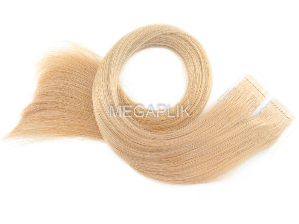 Mega Hair Loiro Fita Adesiva Premium - Cor 9 - tamanho 80cm