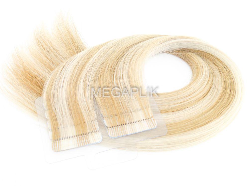 Mega Hair Fita Adesiva Premium 20 peças Mechado #9/12 Cabelo Humano 35cm, 45cm, 55cm e 65cm