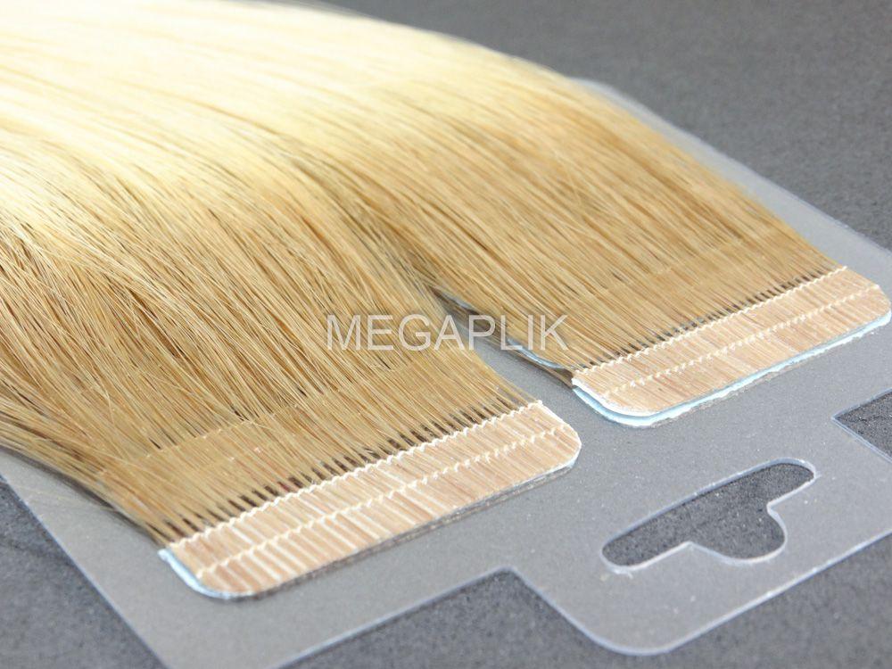 PROMOÇÃO CARNAVAL 10% - Mega Hair Fita Adesiva Premium 20 peças Loiro Ombre #7/12 Cabelo Humano 35cm, 45cm, 55cm e 65cm