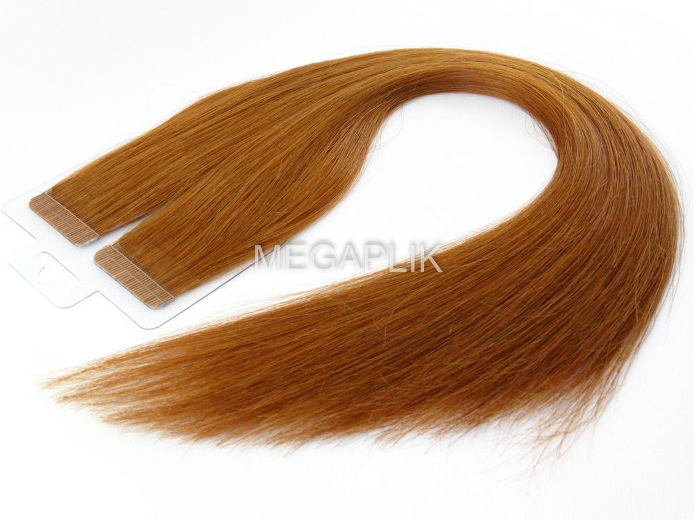 Mega Hair Ruivo Fita Adesiva Premium - Cor 67