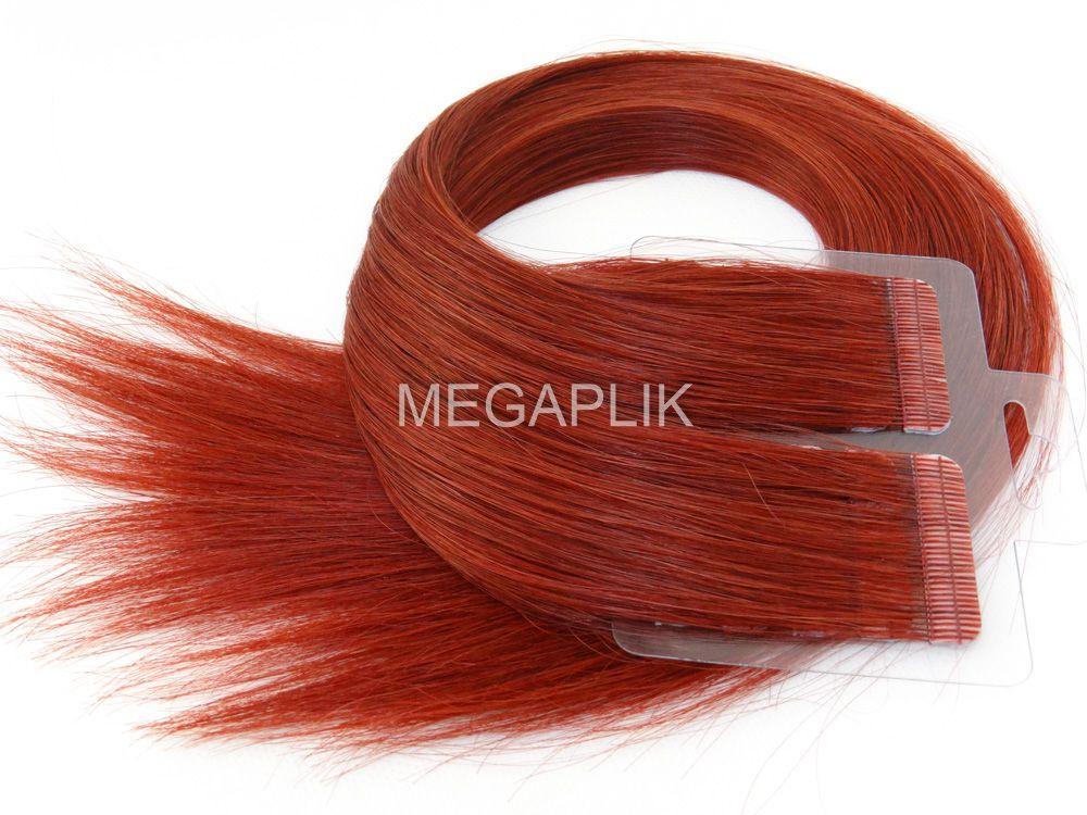 Mega Hair Vermelho Fita Adesiva Premium - Cor 98