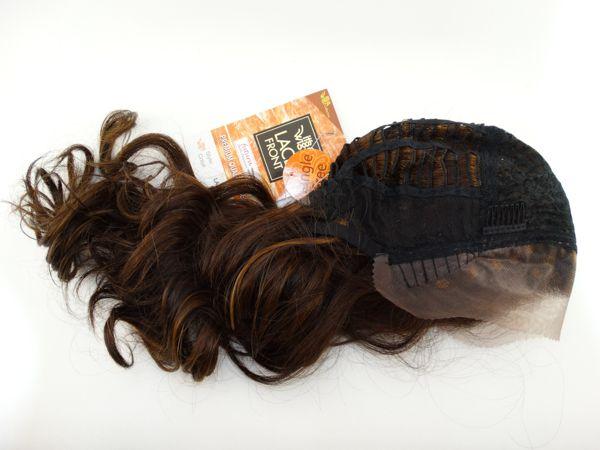PROMOÇÃO CARNAVAL - Peruca Cacheada Cachos Largos Front Lace Fibra Futura It´s a Wig Lace Wind P4/27