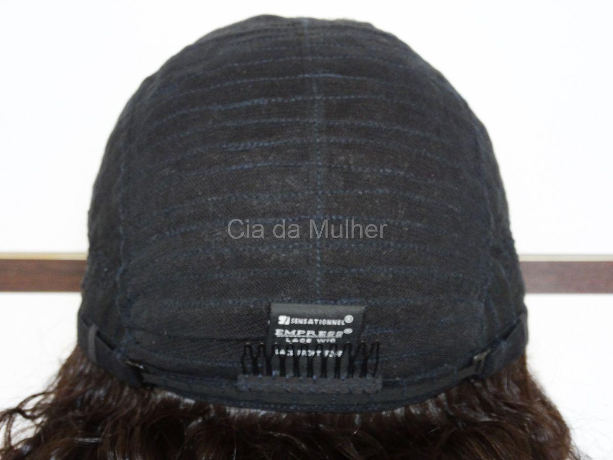 Peruca Cacheada Front Lace Fibra Futura - 65 cm