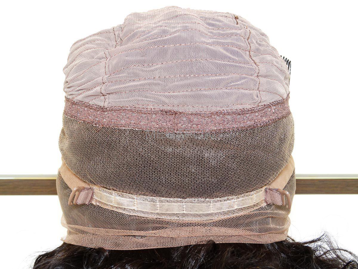Peruca Front Lace Cacheada 360º Cabelo Humano Castanho Natural - 60cm