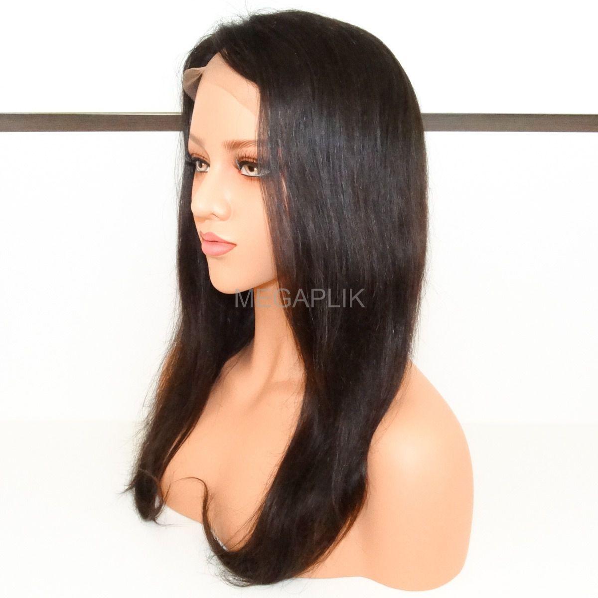 Peruca Full Lace cor Natural - 60cm