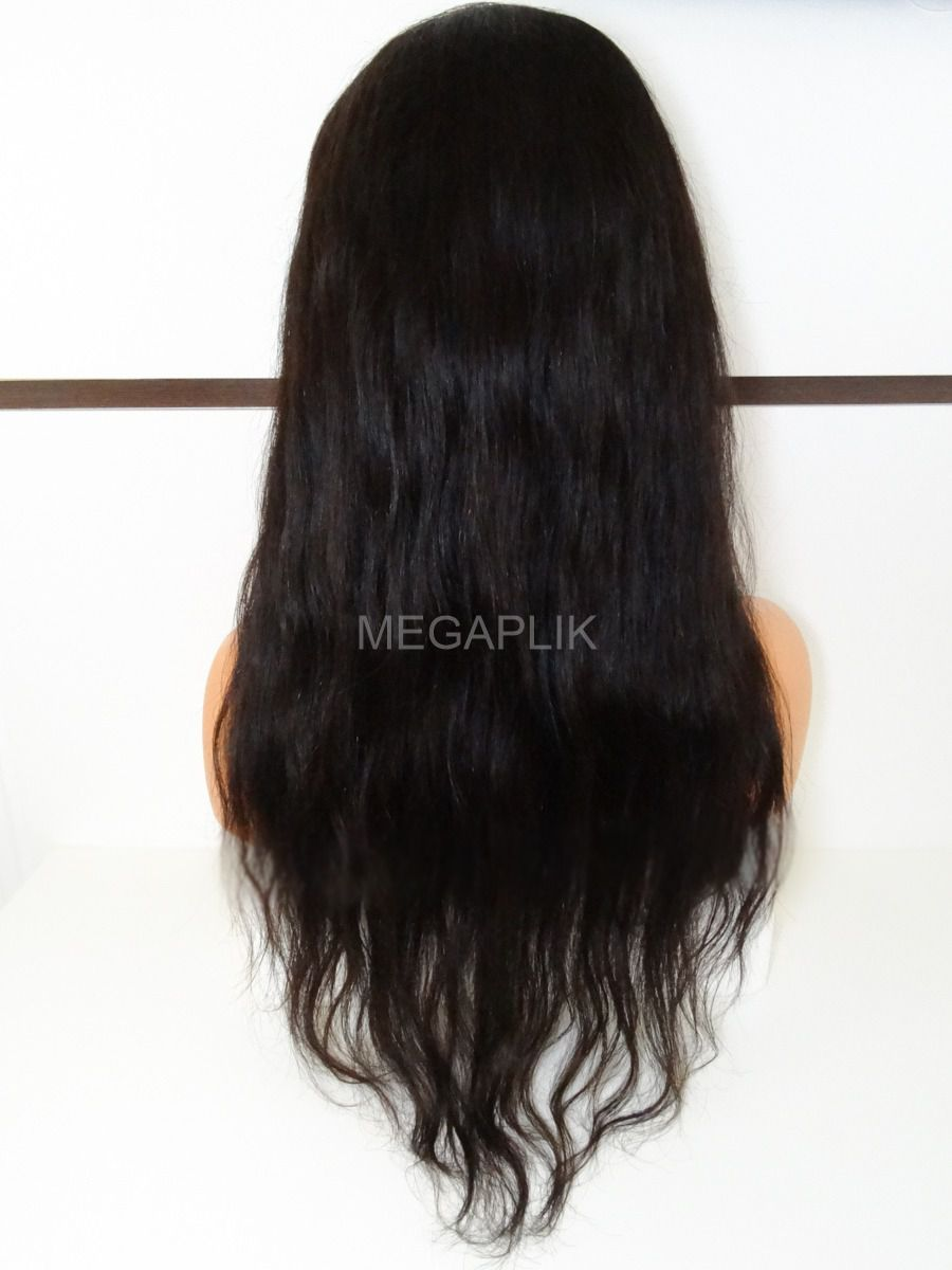 Peruca  Front Lace ondulada  Natural  - 70cm