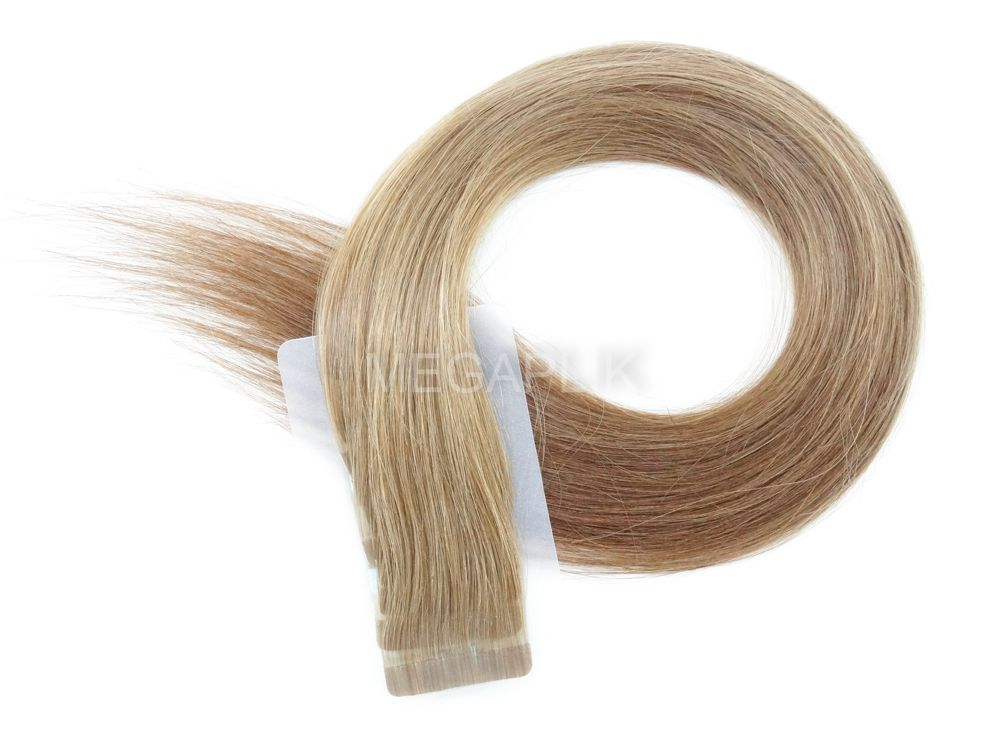 PROMOÇÃO CARNAVAL - Mega Hair Fita Adesiva Classic 20 Peças Loiro Escuro #7 Cabelo Humano 45cm e 65cm
