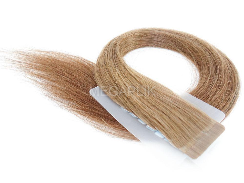 PROMOÇÃO 20% - Mega Hair Fita Adesiva Cabelo Humano Classic Loiro Médio/Escuro #7 - 20 peças 45cm 40g