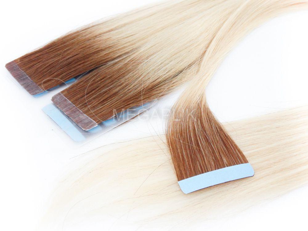 PROMOÇÃO CARNAVAL - Mega Hair Fita Adesiva Classic 20 Peças Ombre Loiro #7/12 Cabelo Humano 55cm