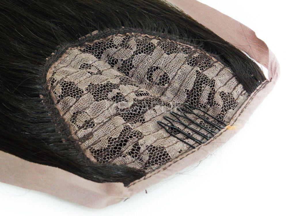 Rabo de Cavalo Cabelo Humano Castanho Médio - 65cm 100g