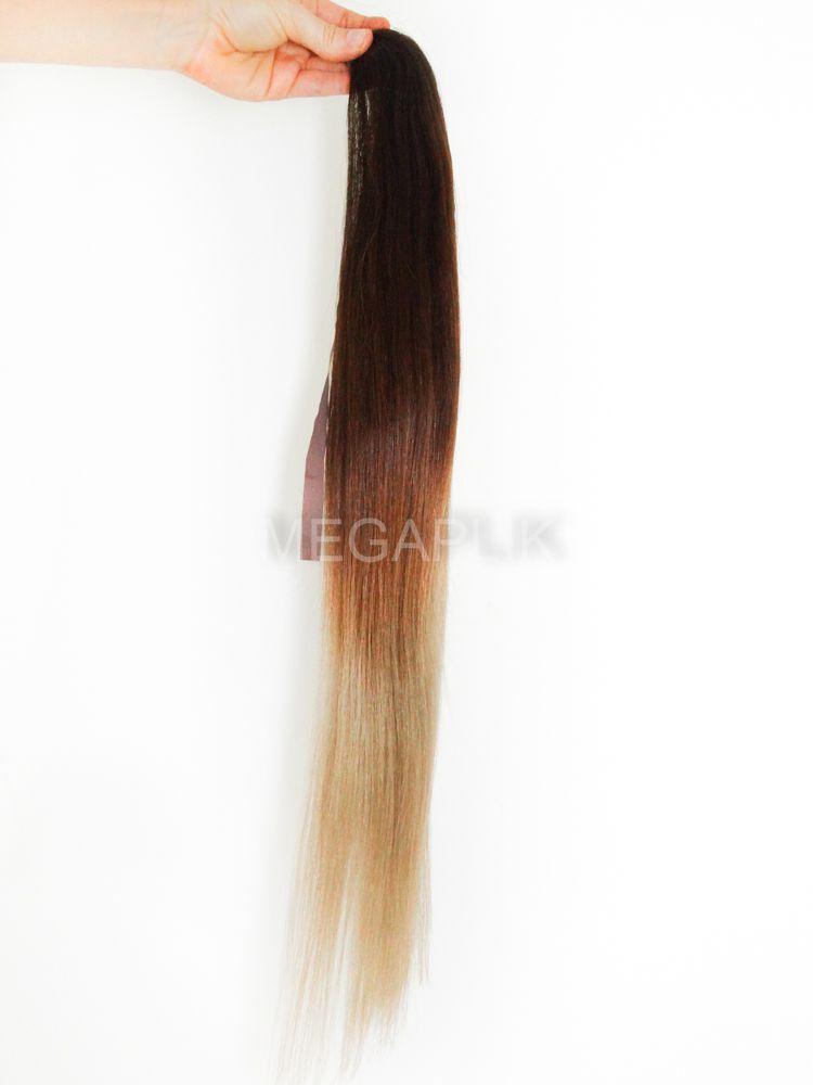 PROMOÇÃO 20% - Rabo de Cavalo Cabelo Humano Castanho Médio Ombre 65cm