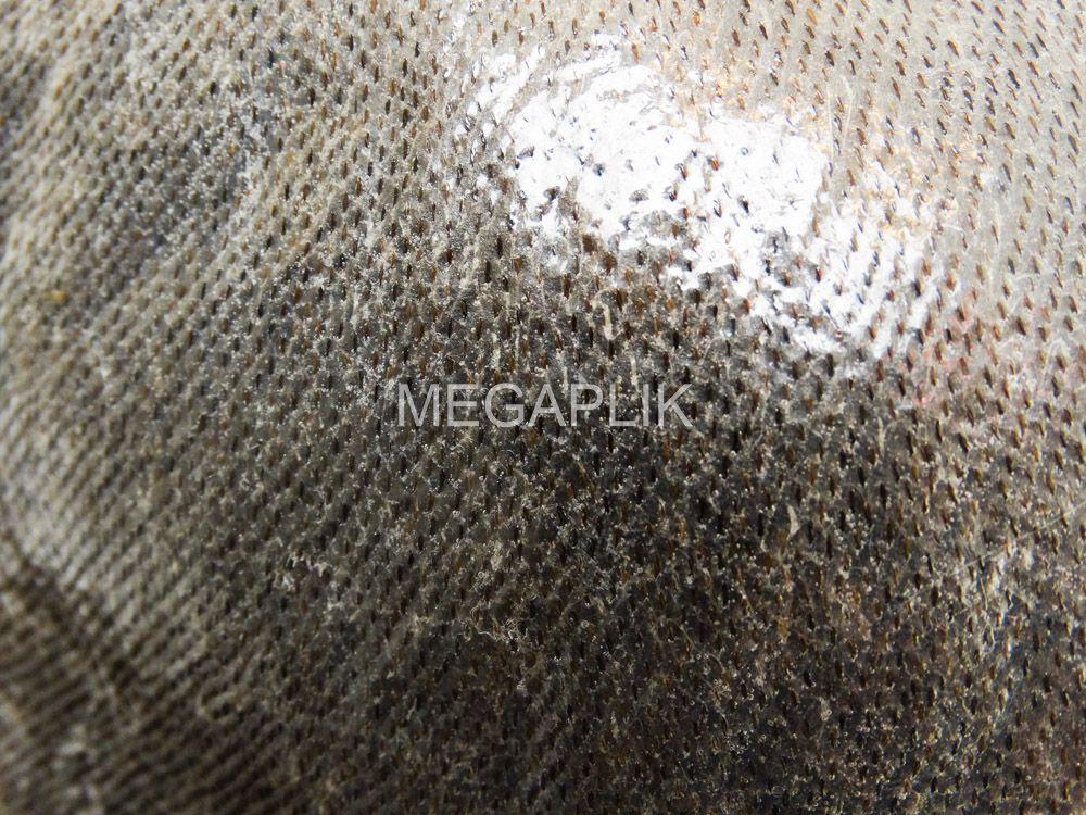Prótese Capilar Micropele Cabelo Humano Castanho Escuro Natural 20% Grisalho
