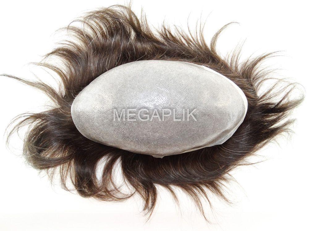Prótese Capilar Micropele Cabelo Humano Preto Natural 10% Grisalho