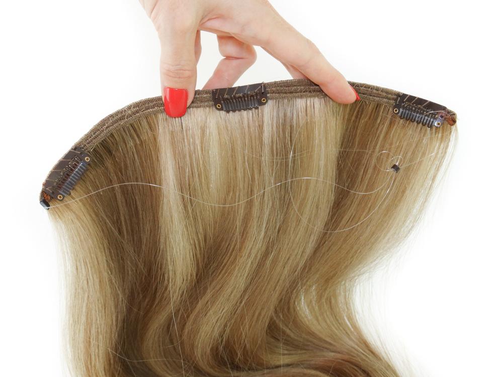 Serviço de Costura de Aplique Mágico Tiara de Cabelo Humano - envie seu cabelo que fazemos o aplique