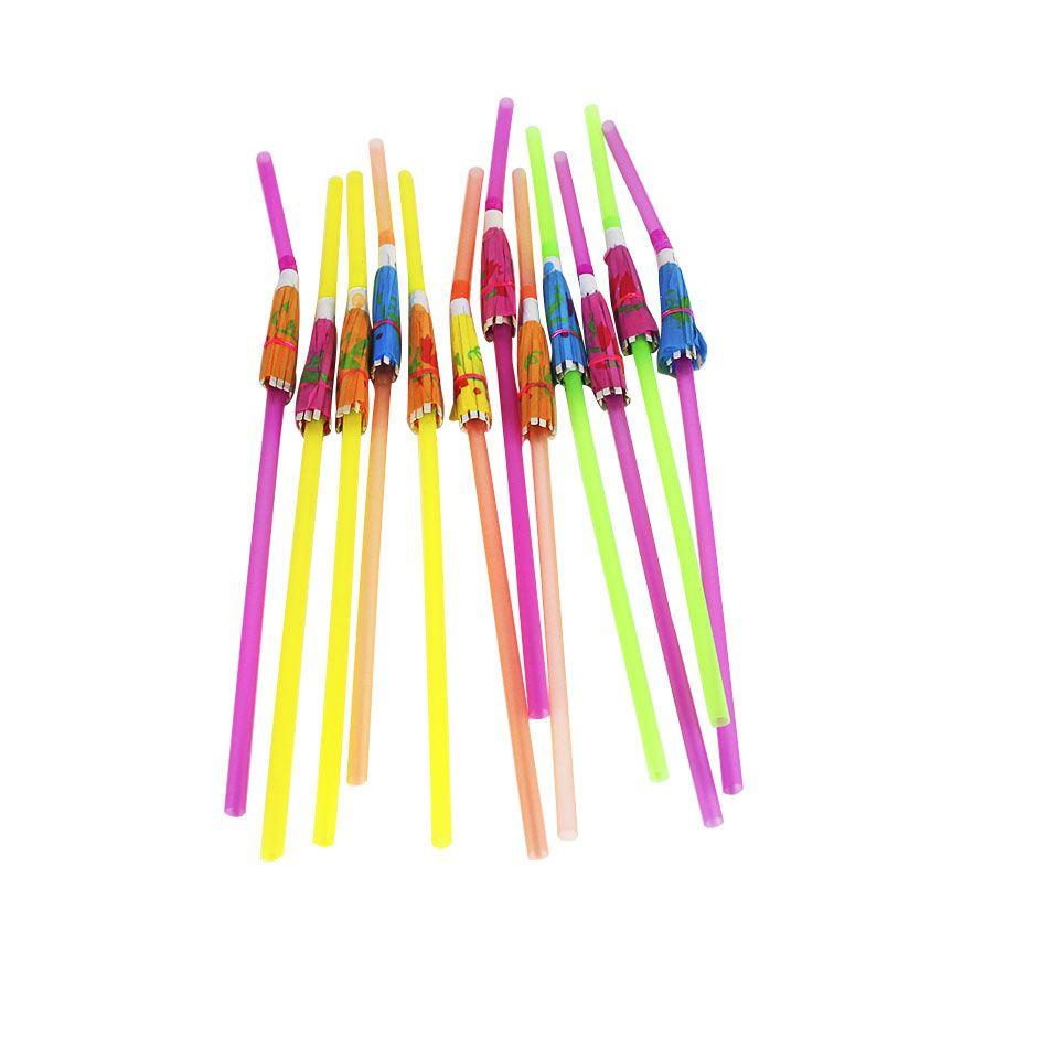 12un Canudos Plástico Decorativo Para Festa Guarda-Chuva