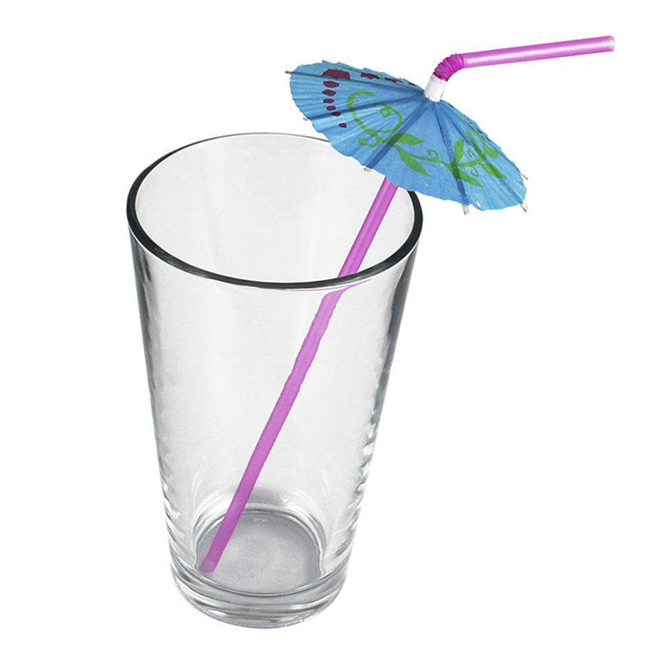 144un Canudos Plástico Decorativo Para Festa Guarda-Chuva
