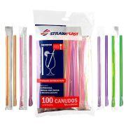 1000 Canudos Colher Mexedor Embalado 1x1 Neon