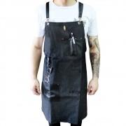 Avental Bartender em Jeans preto
