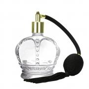 Borrifador Vidro Coroa com Válvula Cordão e Bulbo Dourado 80ml