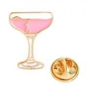 Broche Pin Champanhe Rosa 2 cm