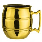 Caneca Inox Barril Dourada Moscow Mule 600 ml