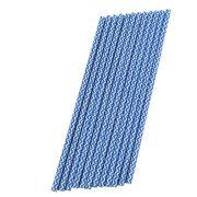 Canudo de Papel Azul Listrado pct com 12 un