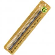 Canudo Inox Reto Preto 20cm e 1 Escova de Limpeza - BONO