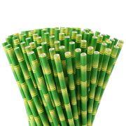 Canudos Papel Bambu Biodegradável Pct 100un Embalados 1x1 Eco
