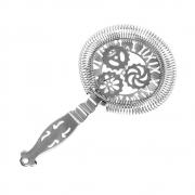 Coador Strainer Hawthorne para Coquetéis Relógio Romano Inox Vazado