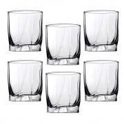 Conjunto 6 Copos Baixos Whisky Em Vidro Luna 350ml