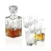 Conjunto de Garrafa e Copos para Whisky Bormioli Selecta 7 Pçs