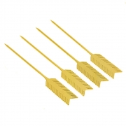 Palito Aperitivo Flecha em Aço Inox Dourado 4 unidades