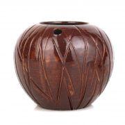 Copo Coco Tiki Marrom  Cerâmica 400ml