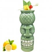 Copo de Cerâmica Modelo Tiki Mug Cabeça de Abacaxi 650 ml