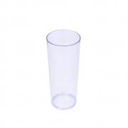 Copo Long Drink 350ml Plástico PS Transparente Neon