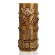 Copo Tiki Mug Modelo Soul Grande Cerâmica Marrom 450ml