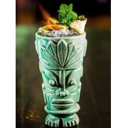 Copo Tiki Mug ICA OI Verde 500ml Cerâmica