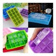 Forma de Gelo De Silicone com 15 Cubos 3cm
