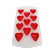Forma De Gelo Plástica Com Fundo Silicone Coração