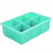 Forma de Gelo Quadrada Grande 4,8cm Silicone Verde Yins