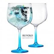 Jogo Com 2 Taças De Gin Gambo Com Pé Azul 705 ml